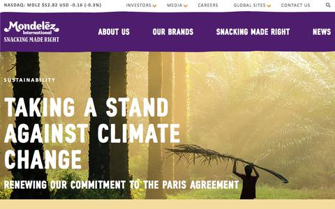 Screenshot of Home Page mondelezinternational.com - Mondelēz International, Inc. - Home - captured Dec. 13, 2019