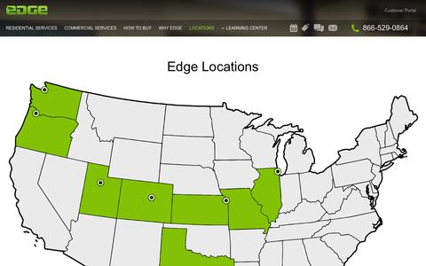 Screenshot of Locations Page edgepestcontrol.com - Locations | Edge Pest Control - captured Feb. 5, 2016