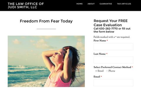 Screenshot of Services Page judismithlaw.com - Freedom From Fear Today - The Law Office of Judi Smith, LLC - captured Feb. 16, 2016