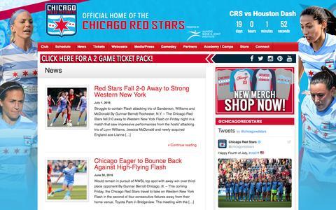 Screenshot of Press Page chicagoredstars.com - News – Chicago Red Stars - captured July 4, 2016