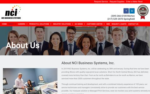 Screenshot of About Page ncibsi.com - D - About - NCI Business Systems - captured Nov. 15, 2018