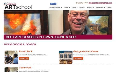Screenshot of Locations Page cordovanartschool.com - Choose a Location - Cordovan Art School Cordovan Art School - captured May 21, 2017