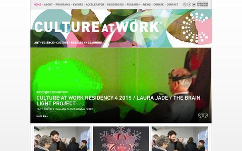 Screenshot of Home Page cultureatwork.com.au - CULTURE AT WORK : Culture at Work - captured Oct. 2, 2015