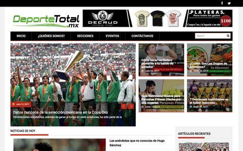 Screenshot of Home Page deportetotal.mx - Deporte Total - captured July 16, 2017