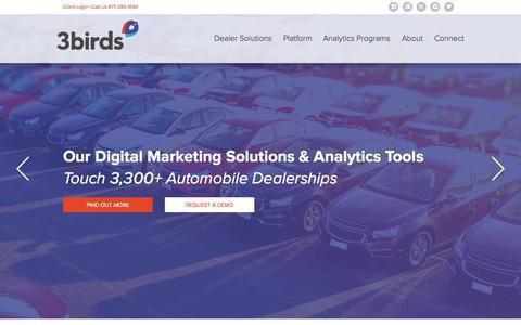 Screenshot of Home Page 3birdsmarketing.com - Automotive Marketing Solutions | 3 Birds Marketing - captured Nov. 5, 2015