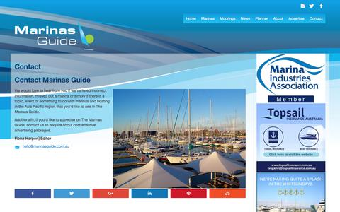 Screenshot of Contact Page marinasguide.com.au - Contact | Marinas Guide - captured Oct. 9, 2017