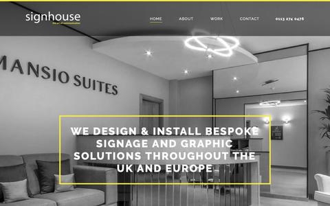 Screenshot of Home Page thesignhouse.com - Signage Services   Home   The Signhouse - captured Oct. 18, 2018