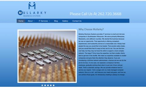 Screenshot of Home Page mbswi.com - Mullarky Business Systems - Milwaukee IT Services, Wisconsin IT Services - captured Nov. 18, 2015