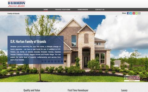 Screenshot of drhorton.com - Family of Brands | D.R. Horton - captured Dec. 9, 2016