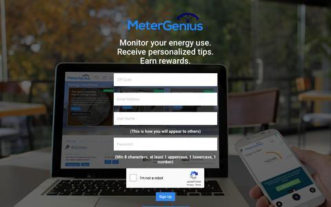 Screenshot of Signup Page metergenius.com - MeterGenius - Sign Up - captured Sept. 20, 2018