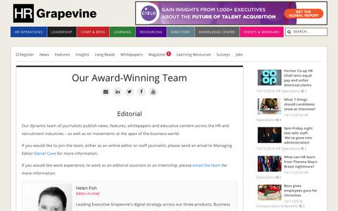 Screenshot of Team Page hrgrapevine.com - Our Team | HR Grapevine - captured Nov. 19, 2018