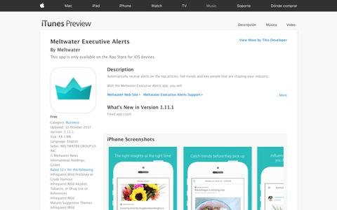 Meltwater Executive Alerts on the App Store