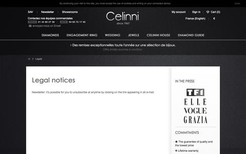 Screenshot of Privacy Page celinni.com - Legals - La boutique Celinni - captured May 15, 2017