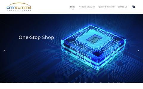 Screenshot of Home Page cmrsummit.com - CMR SUMMIT Technologies – CMR SUMMIT Technologies - captured Oct. 7, 2016