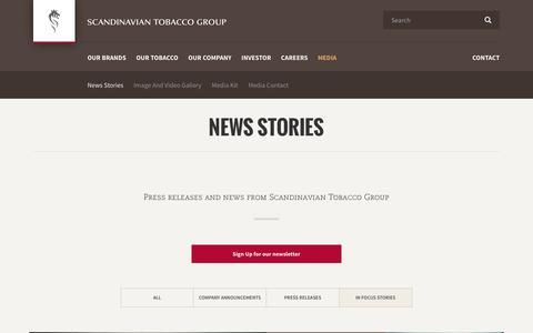 Screenshot of Team Page st-group.com - News Stories - captured Oct. 2, 2018