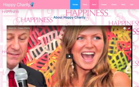 Screenshot of About Page happycharity.org - Happy Charity Offers Help, Hope & Happiness To Kids in Need - captured Oct. 2, 2018
