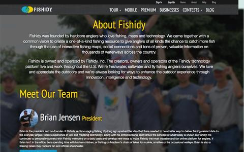 Screenshot of About Page fishidy.com - Background, Benefits & Behind the Scenes | About Fishidy - captured Oct. 21, 2015