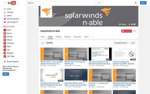 SolarWinds N-able  - YouTube