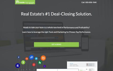 Screenshot of Landing Page insiderealestate.com - Inside Real Estate - Website, Lead-Generation, CRM & Automation System - captured April 13, 2018