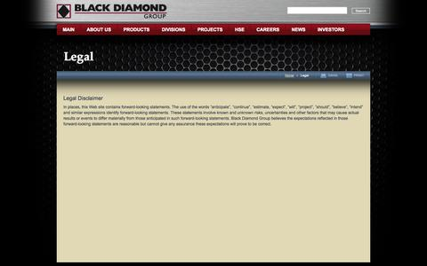 Screenshot of Terms Page boxxmodular.com - Black Diamond Limited : Legal - captured Sept. 30, 2014