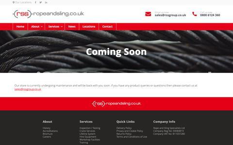 Screenshot of Login Page ropeandsling.co.uk - Coming Soon - Rope and Sling - captured Nov. 16, 2018