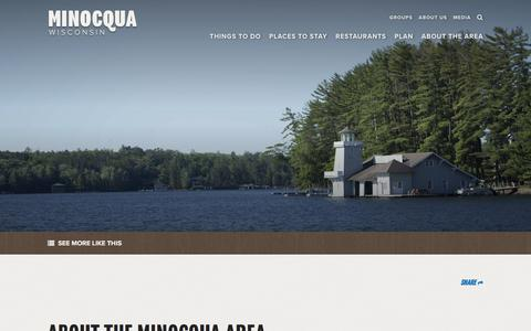 Screenshot of About Page minocqua.org - About the Minocqua Area Chamber   Chamber Information - captured Oct. 27, 2017