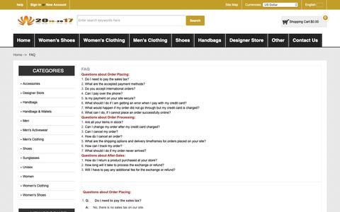 Screenshot of FAQ Page killcrestservices.co.uk - FAQ : Online Sales Men Salvatore Ferragamo 'Trekking' Sneakers - captured Oct. 15, 2018