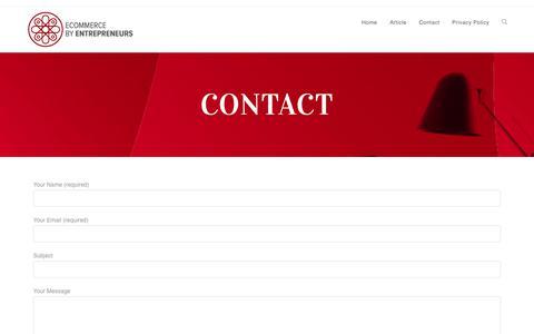Screenshot of Contact Page searchramble.com - Contact - captured Sept. 21, 2018