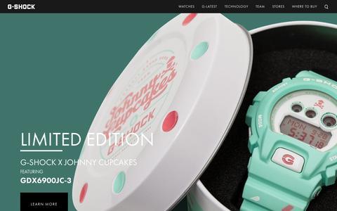 Screenshot of Home Page gshock.com - Watches - Mens Watches - Digital Watches Casio - G-Shock - captured Nov. 17, 2015