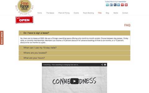 Screenshot of FAQ Page freerangeoffice.com - FAQ - Free Range Office Free Range Office - captured Sept. 30, 2014