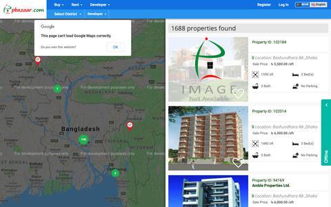 Screenshot of Developers Page pbazaar.com - Real estate company in Bangladesh   Developers  and Builders  Real Estate      pbazaar.com - captured Sept. 27, 2018