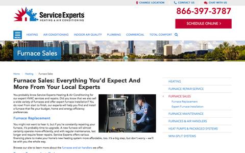 Furnace Sales in your city | Service Experts