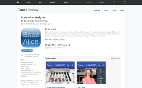 Booz Allen Insights on the App Store