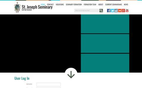 Screenshot of Login Page stjoseph-seminary.com - User Log In - captured March 9, 2018
