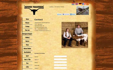 Screenshot of Contact Page texaslonghorn.nl - Texaslonghorn.nl - captured Sept. 24, 2018