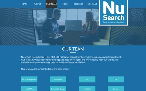 Screenshot of Team Page nusearch.co.uk - Our Management Team - captured Aug. 14, 2016