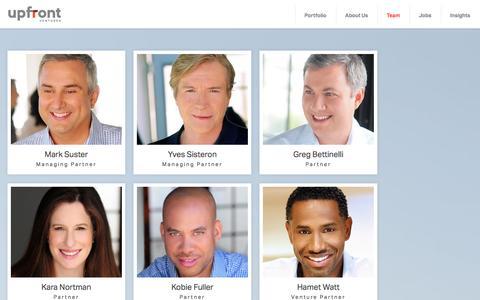 Screenshot of Team Page upfront.com - Team Members | Upfront Ventures - captured Dec. 5, 2016