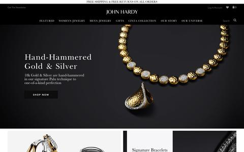 Screenshot of Home Page johnhardy.com - The Official John Hardy Online Boutique - Designer Handmade Jewelry - captured Oct. 1, 2015