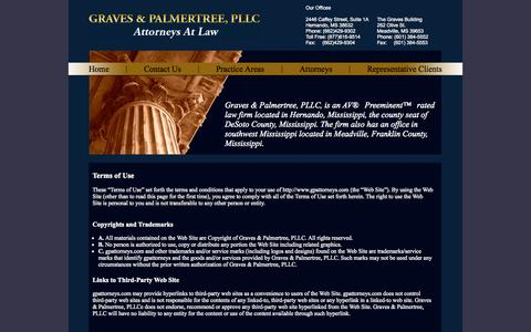 Screenshot of Terms Page gpattorneys.com - Graves & PalmertreeHorn Lake Land Use Lawyer ::  Commercial Litigation Southaven - captured Oct. 3, 2014