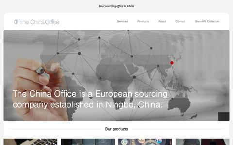 Screenshot of Home Page the-china-office.com - The China Office - captured June 14, 2017