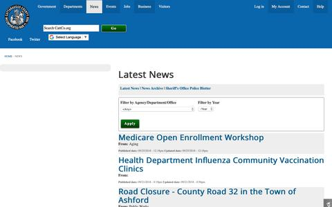 Screenshot of Press Page cattco.org - News from Cattaraugus County | Cattaraugus County - captured Sept. 27, 2018