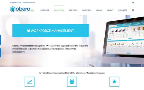 Workforce Planning Management - Obero SPM