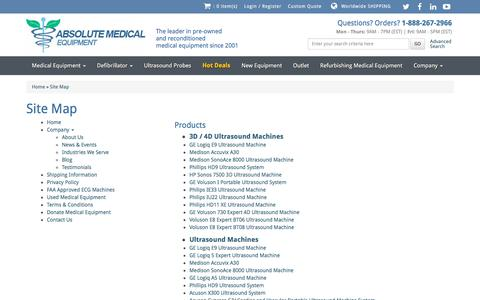 Screenshot of Site Map Page absolutemed.com - Site Map    Absolute Medical Equipment - captured June 30, 2017