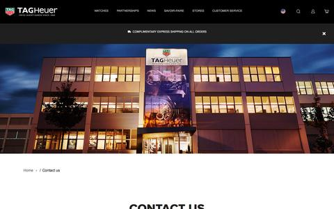 Screenshot of Contact Page tagheuer.com - Contact us | Tag Heuer - captured Sept. 20, 2018