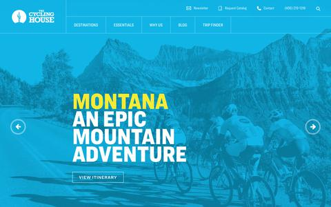 Screenshot of Home Page thecyclinghouse.com - Bicycle Tours, Cycling Vacations, Triathlon Camps, Bike Trips - captured Nov. 29, 2019