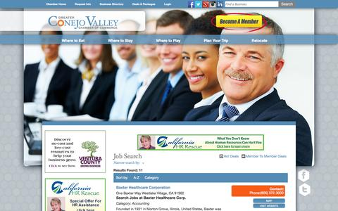 Screenshot of Jobs Page conejochamber.org - Job Search - Greater Conejo Valley Chamber of Commerce - Chamber Jobs - captured Oct. 3, 2014