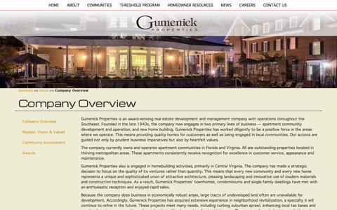 Screenshot of About Page gumenick.com - Company Overview   Gumenick Properties - captured March 25, 2016