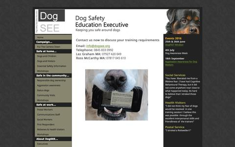 Screenshot of Contact Page dogsee.org - Dog Safety Education Executive - captured Nov. 24, 2016
