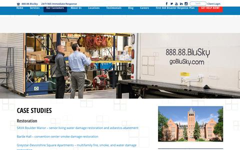 Screenshot of Case Studies Page goblusky.com - Case Studies from BluSky Customers - captured Oct. 10, 2017