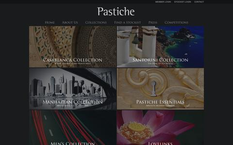 Screenshot of Products Page pastiche.com.au - Collections   Pastiche - captured Sept. 29, 2014